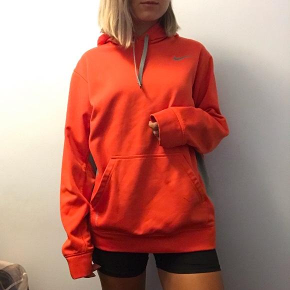 Orange Therma Fit Nike Hoodie Size Medium